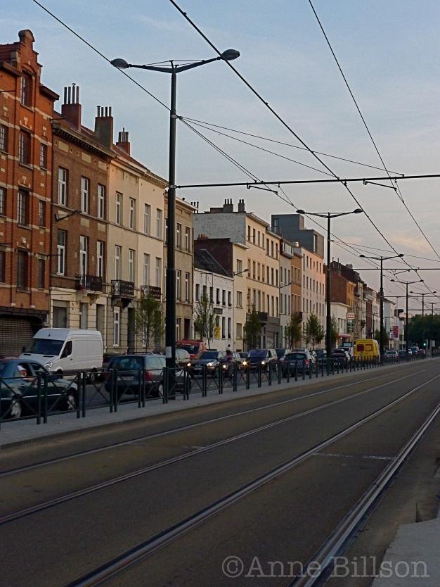 Bij de tramhalte (zuid): Barthélémylaan, Brussel.
