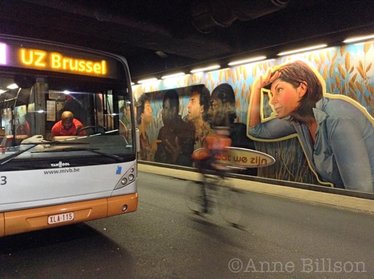 Brussel-Noord busstation.