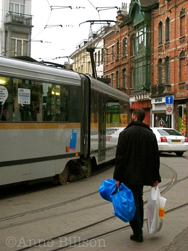 Blauwe zak: Charleroise Steenweg, Sint-Gillis.
