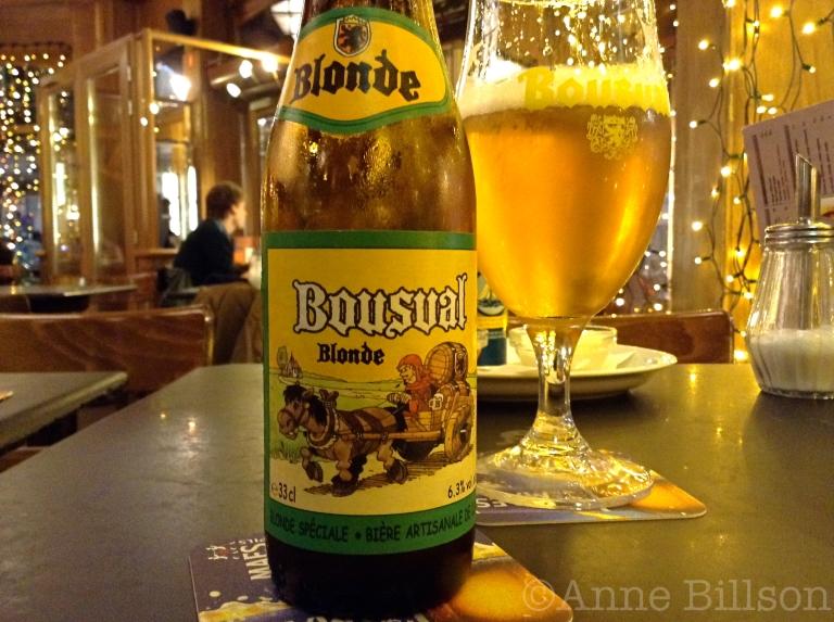 Bousval Blonde, 6.3%: L'Ultime Atome, Sint-Bonifaasstraat 14, Elsene.
