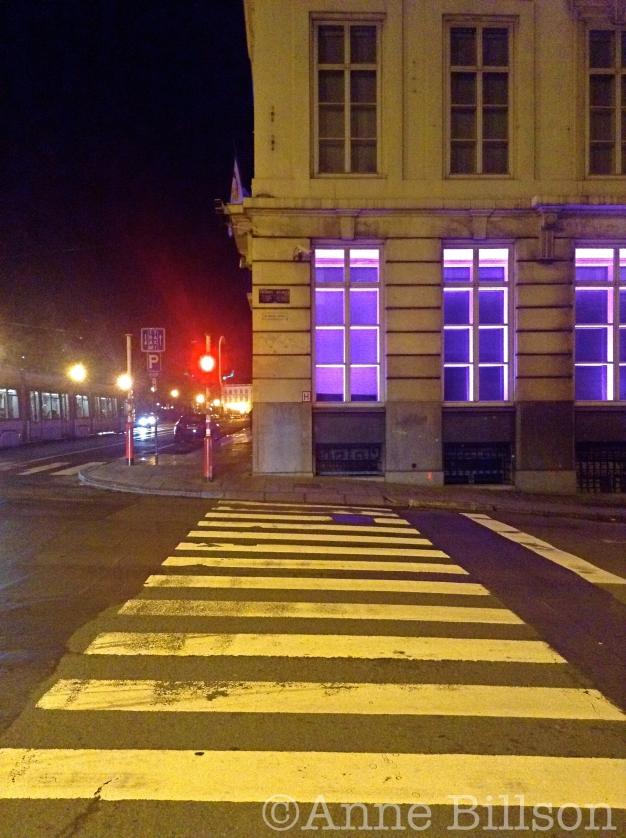 Oversteekplaats: Koloniënstraat, Brussel.