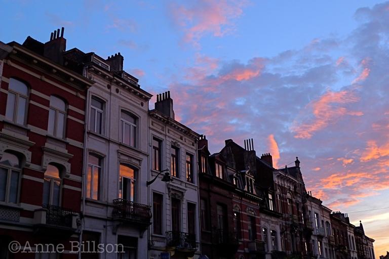 Machtige zonsondergang: Sint-Gillis.