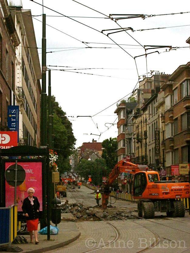 Wegwerkzaamheden: Waterloosesteenweg, Ukkel.