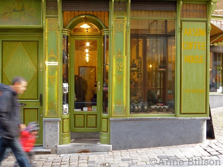 Aksum coffee house: Spoormakersstraat, Brussel.