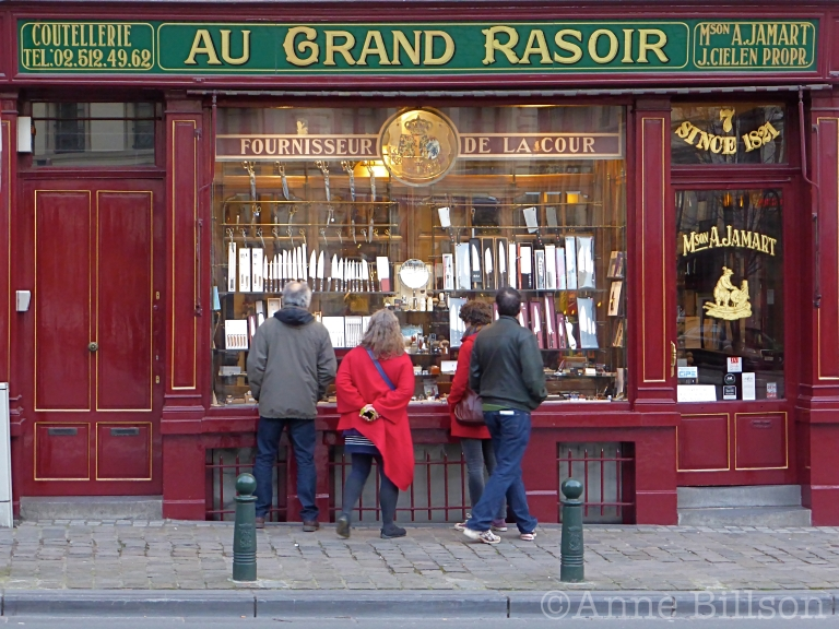 Au grand rasoir: Maison Jamart, Gasthuisstraat 7, Brussel.