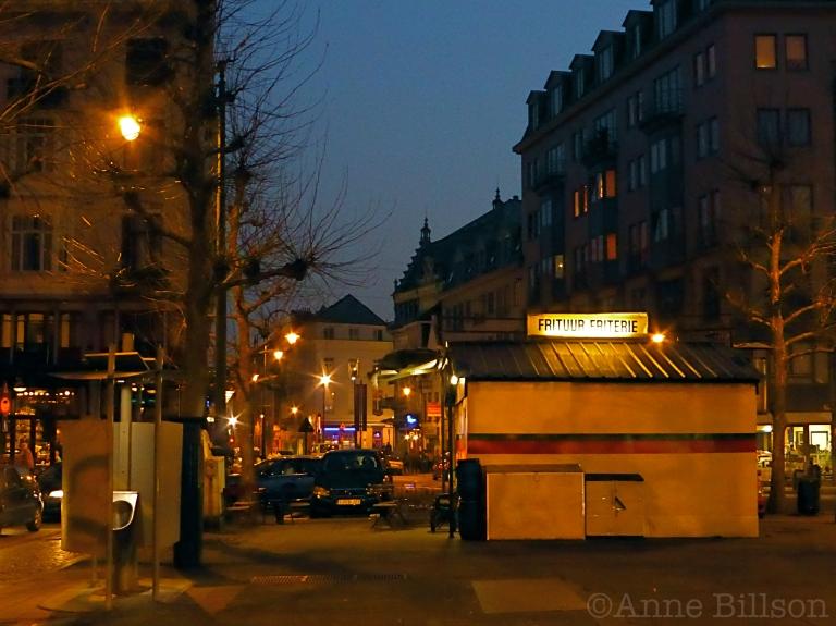 Frituur: Lakensestraat, Brussel.