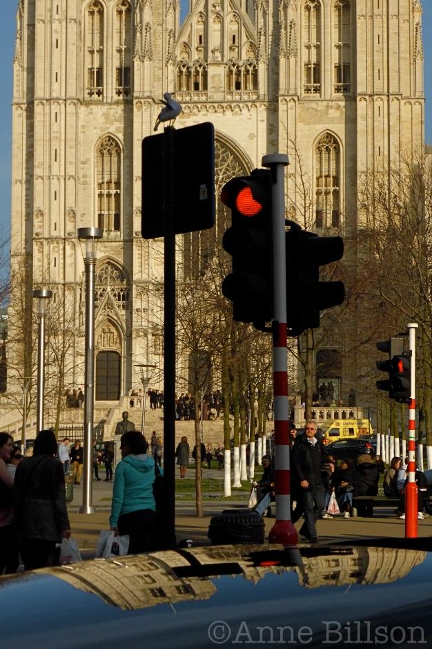 Sint-Michiels en Sint Goedelekathedraal: Sinter Goedelevoorplein, Brussel.