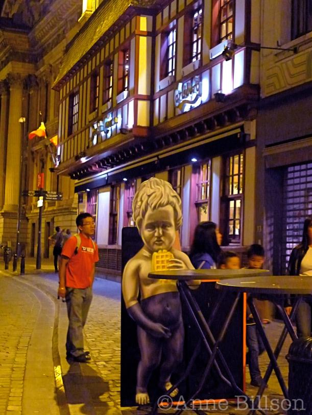 Manneken wafel: Taborastraat, Brussel.