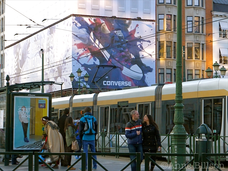 Converse: Louizaplein, Brussel.