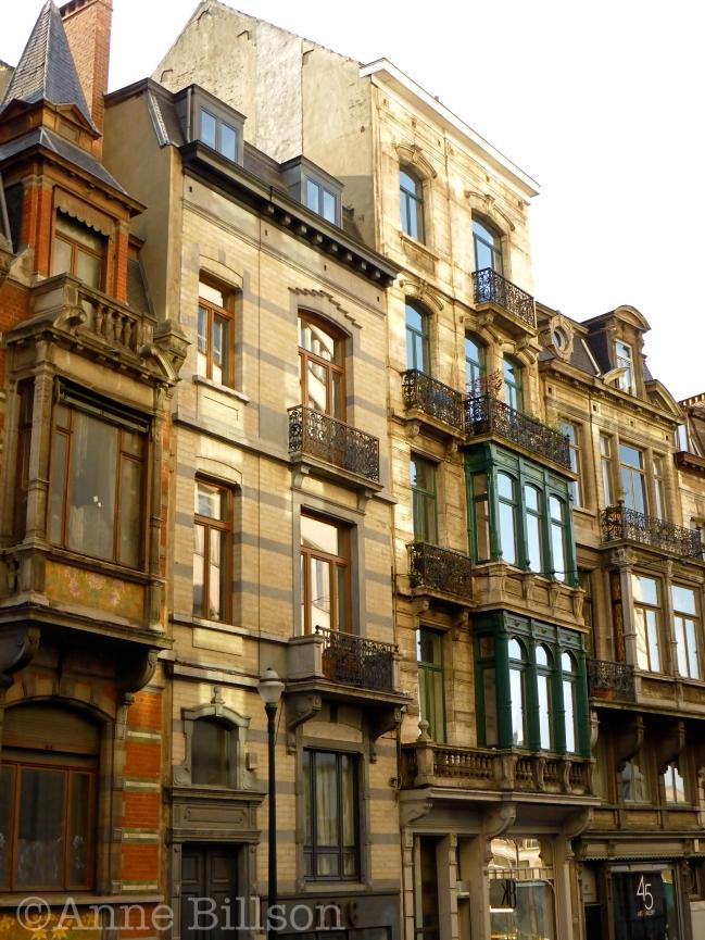 Huizen op Lebeaustraat: Lebeaustraat, Brussel.