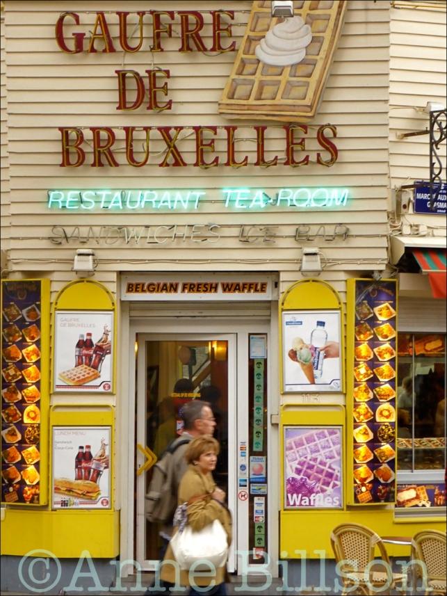 Gaufre de Bruxelles: Grasmarkt, Brussel.