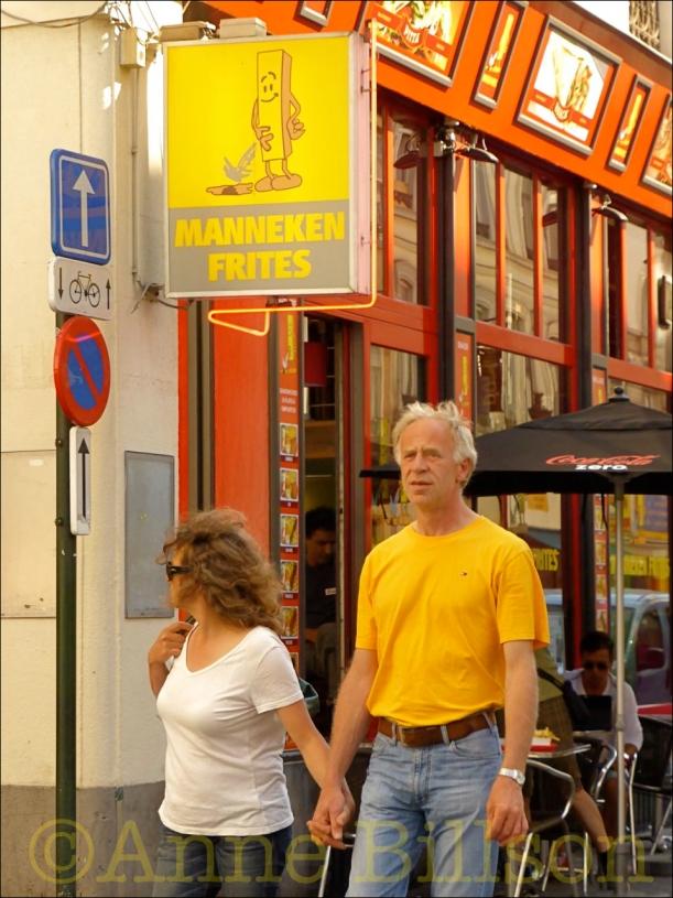 Manneken frites: Zuidstraat, Brussel.