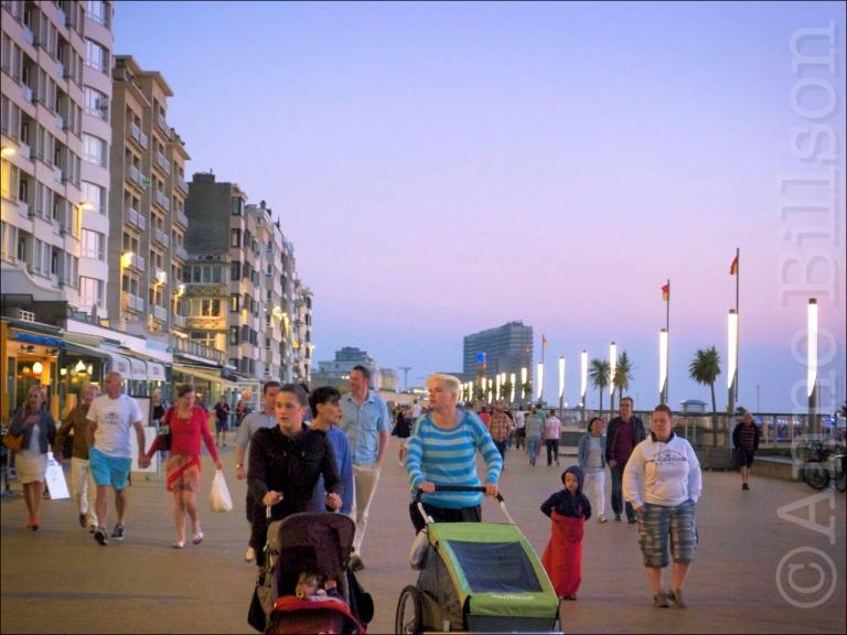 Zonsondergang wandeling: Albert I Promenade, Oostende.
