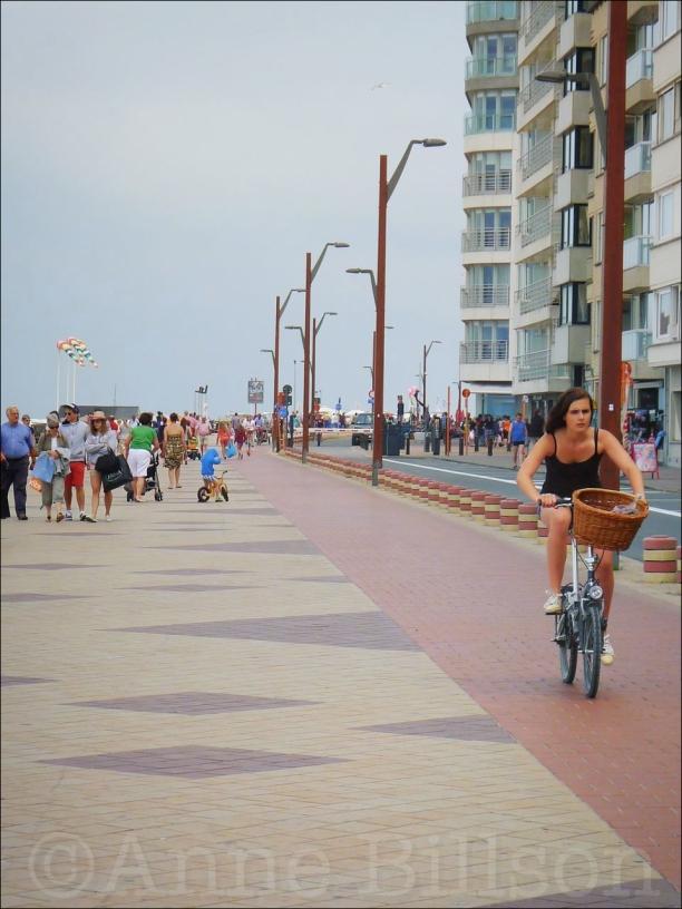 Kust fietser: Rubensplein, Knokke.