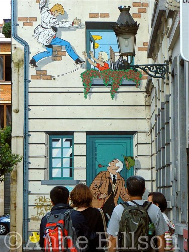 Rik Ringers (Ric Hochet): Bijstandstraat, Brussel.