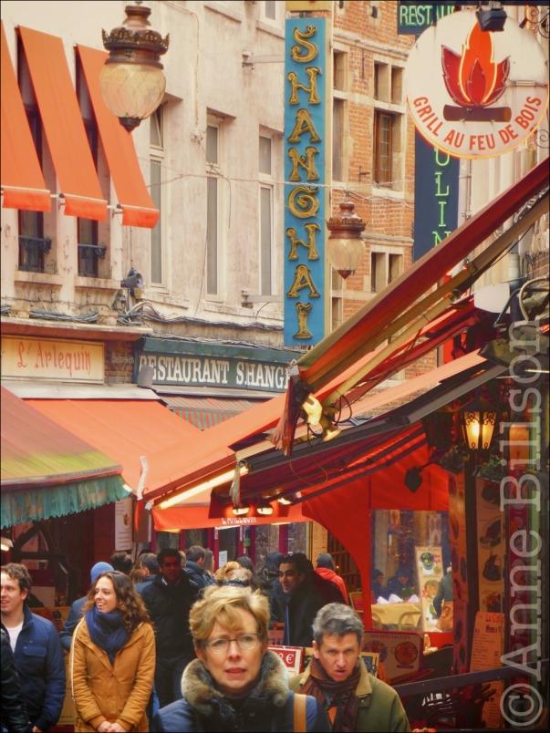 Shanghai: Beenhouwersstraat, Brussel.