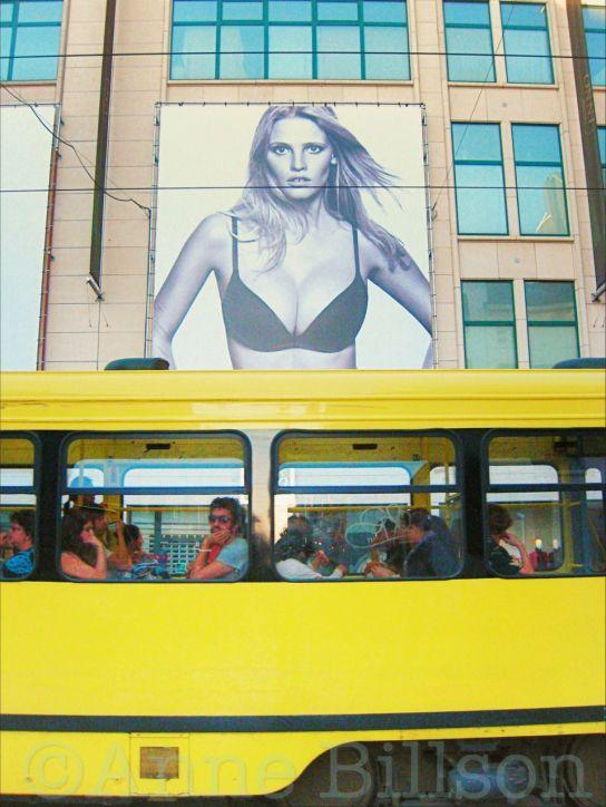 Gele bus: Louizalaan, Sint-Gillis.