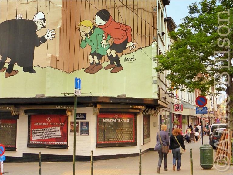 Hergé op Hoogstraat: Hoogstraat, Brussel.
