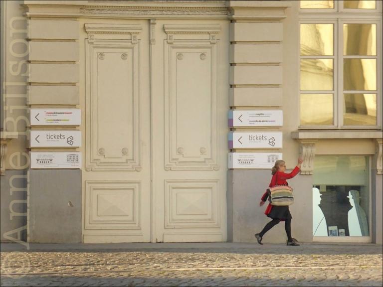 Buiten het Magritte Museum: Koningsplein, Brussel.