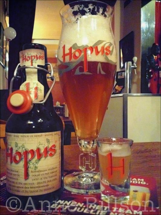 Borrelglas: Hopus, 8.3%, Le Châtelain, Kasteleinsplein 17, Elsene.
