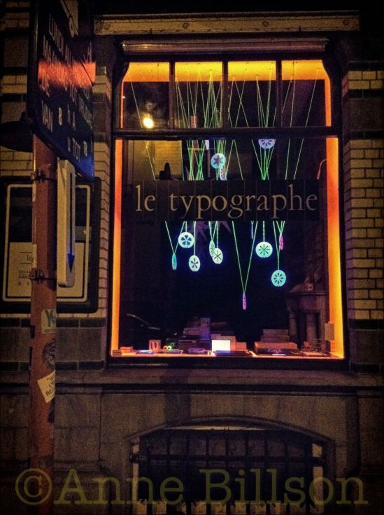 Le Typographe bij Kerstmis: Le Typographe, Amerikaansestraat 67, Elsene.