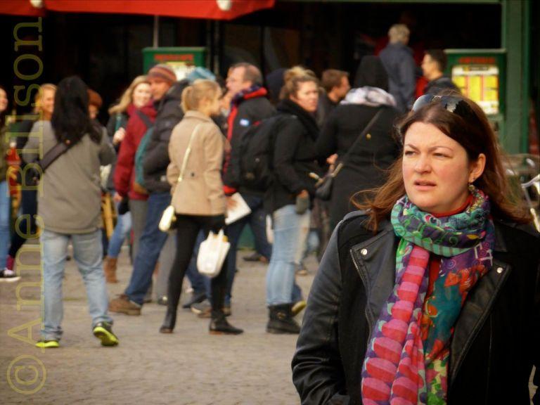 Veelkleurige sjaal: Grote Markt, Brusse.