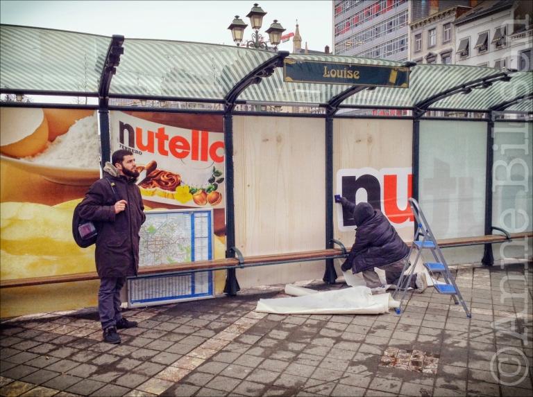 Nutella: Louizaplein, Sint-Gillis/Elsene.
