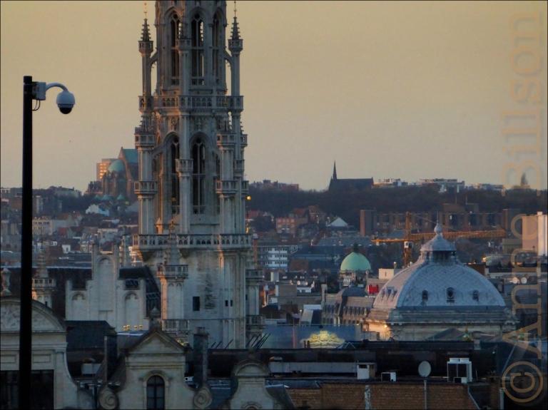 Het centrum vanuit Kunstberg: Brussel.
