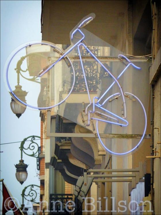 Blauwe fiets: Brugmannlaan, Ukkel.