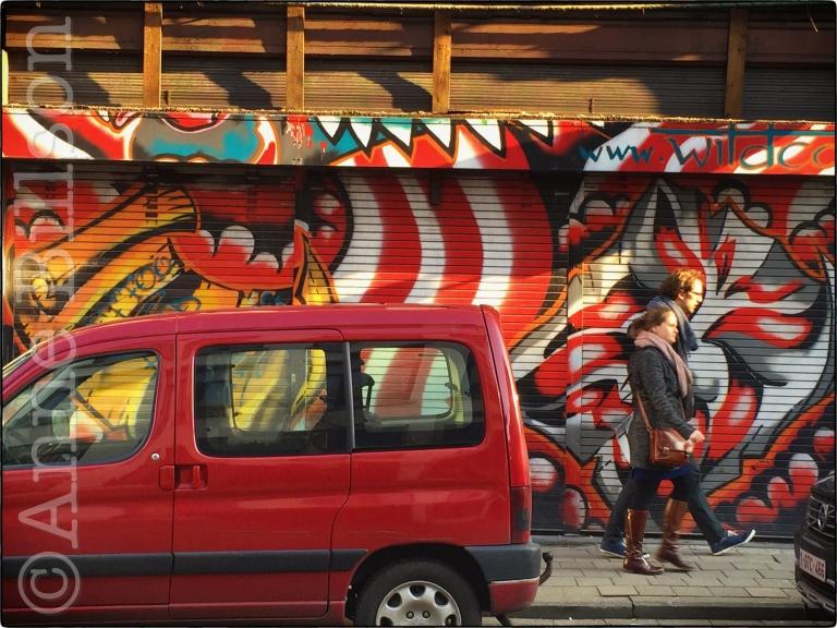 Rode bestelwagen: Antwerpen,