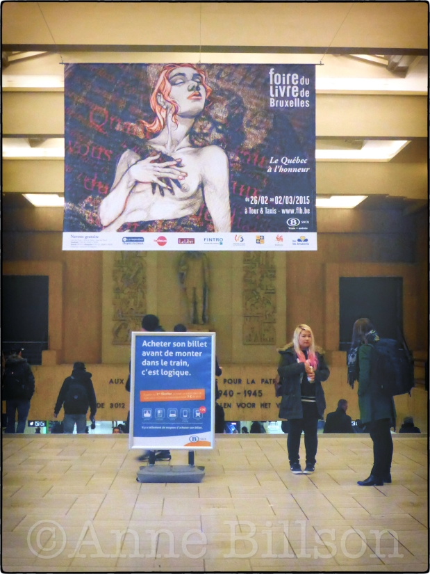 Foire du livre de Bruxelles: Brussel-Centraal, Brussel.