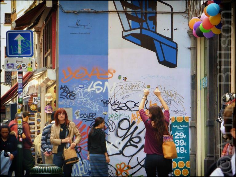 Kuifje en Kapitein Haddock: Stoofstraat, Brussel.
