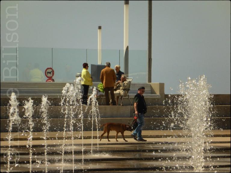 Fonteinen: Albert I-promenade, Oostende.