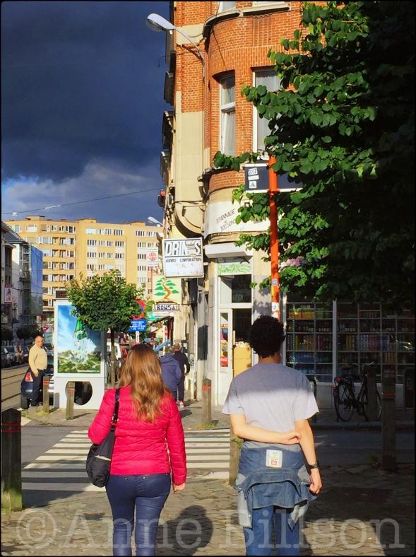 Langs Lesbroussartstraat: Lesbroussartstraat, Elsene.
