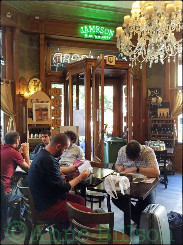 Brasserie du Lombard: Lombardstraat 1, Brussel.