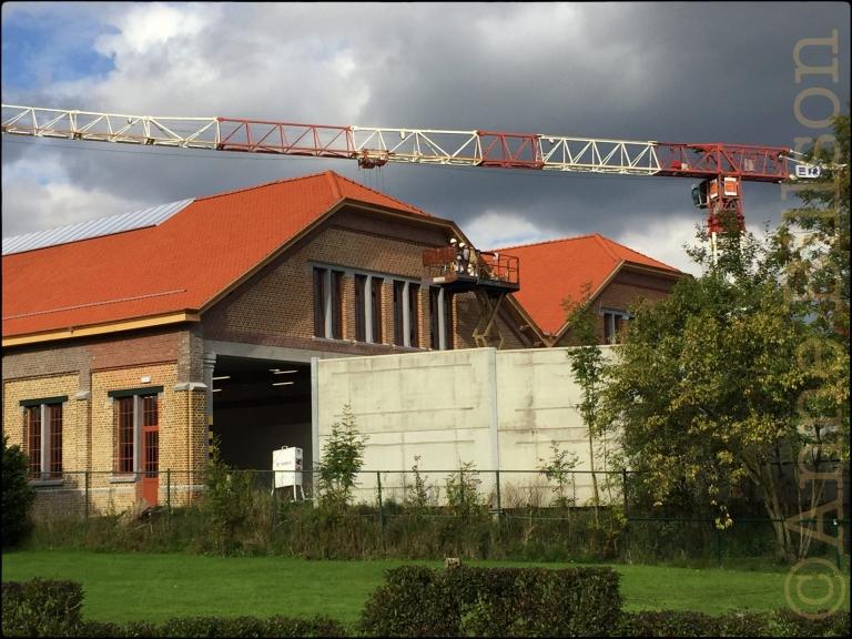 Oranje daken: Van Akenstraat, Grimbergen.
