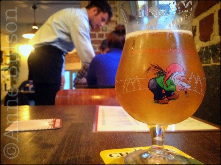 La Chouffe (8%) at Café la Pompe: Waterlooseteenweg 211, Sint-Gillis.