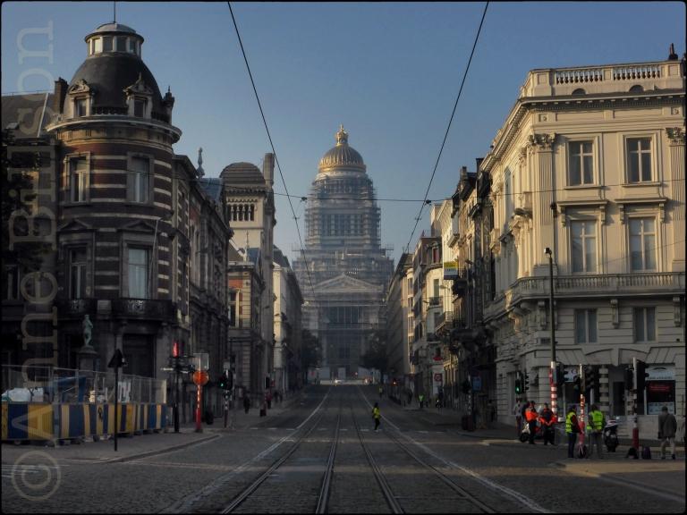 Marathon zondag: Regentschapsstraat, Brussel.