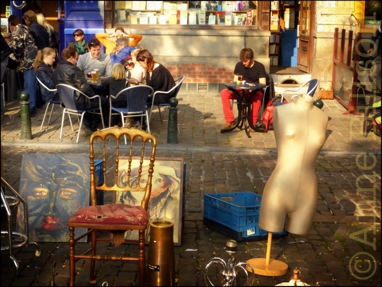 Rommelmarkt: Vossenplein, Brussel.