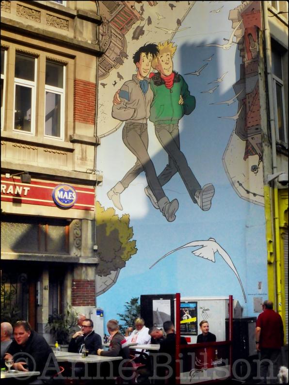 Broussaille (door Frank Pé): Kolenmarkt, Brussel.