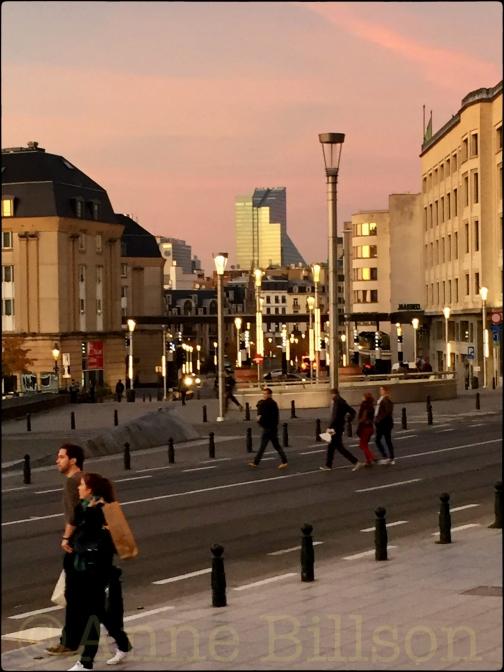 Roze en zilver: Kapellestraat, Brussel.