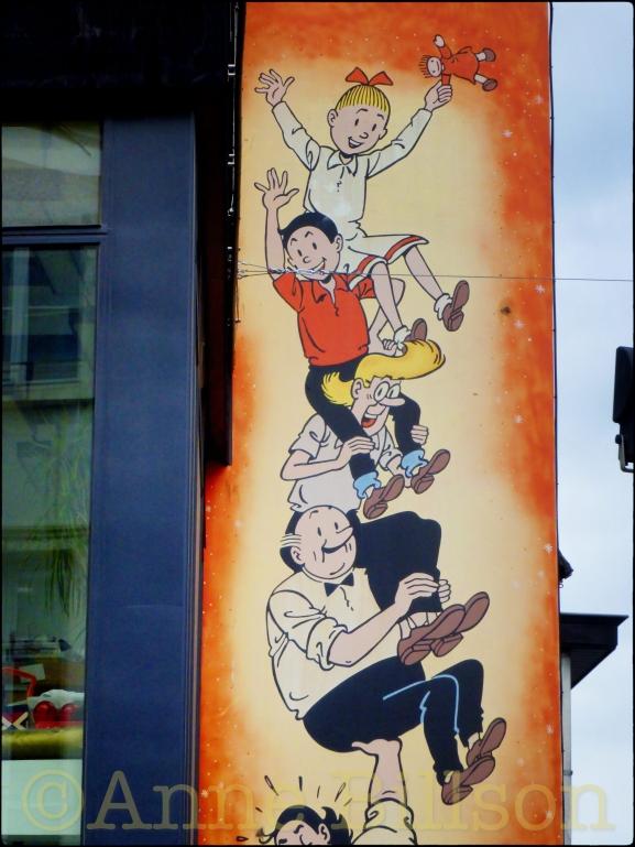 Suske en Wiske bis: Lakensestraat, Brussel.