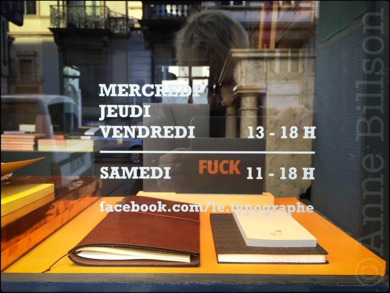 Chique schrijfbehoeften: Le Typographe, Amerikaansestraat 67, Elsene.