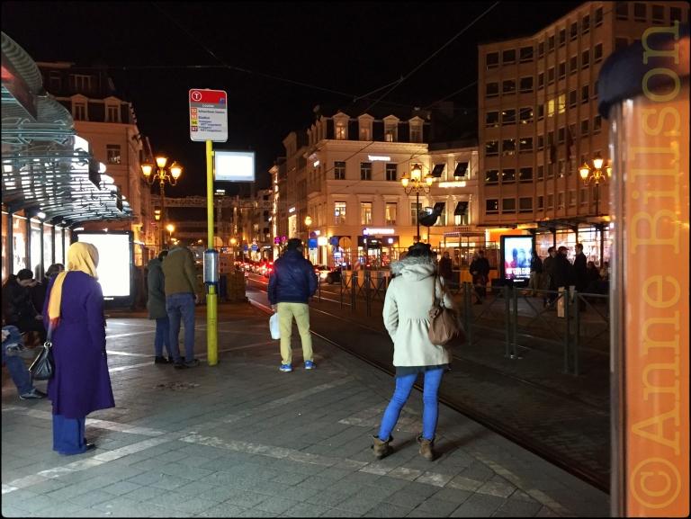 Blauwe spijkerbroek: Louizaplein, Sint-Gillis.