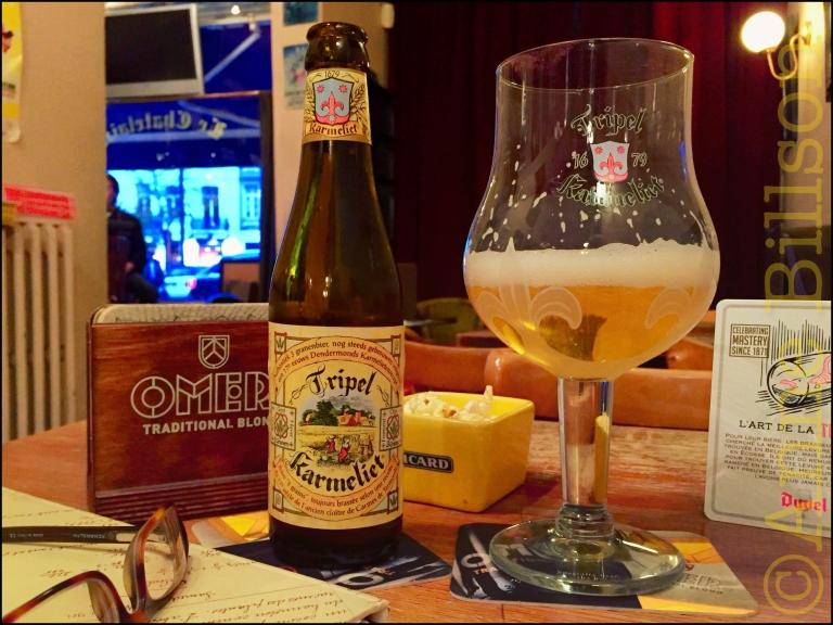 Eerste biertje in acht weken: TripelKarmeliet (8.4%), Le Châtelain, Kasteleinsplein 17, Elsene.