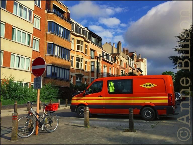 Oranje bestelwagen: Boetendaellaan, Ukkel.