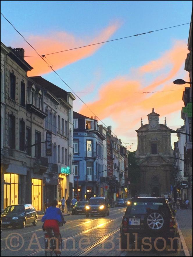 Baljuwstraat schemering: Baljuwstraat, Elsene.