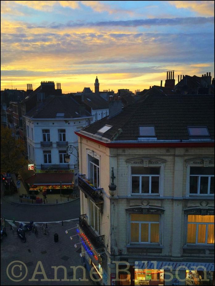 Computerwinkel zonsondergang: Ducpétiauxlaan, Sint-Gillis.
