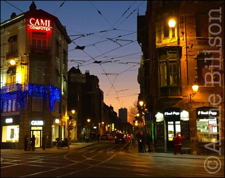 Kerstman: Morisstraat, Sint-Gillis.